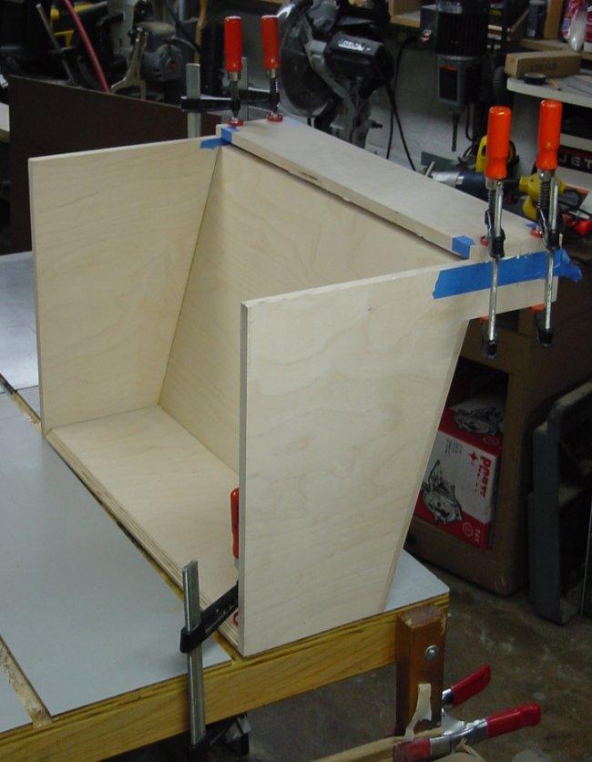 Chop Saw Dust Hood 2 Top Amp Bottom Of The Plenum Box